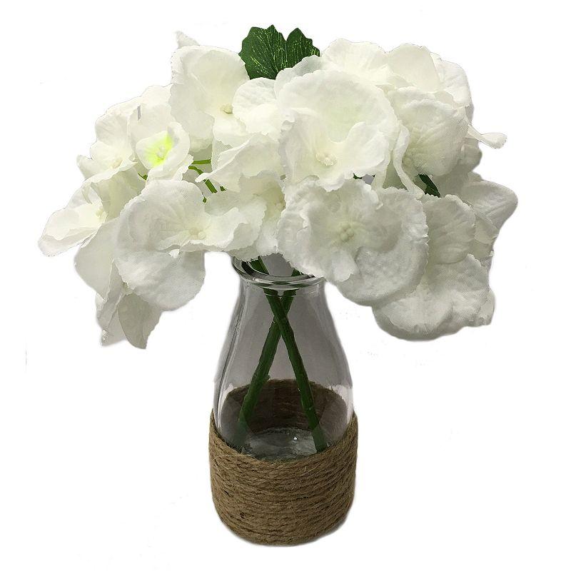 SONOMA Goods for Life™ Artificial Hydrangea Burlap Vase Table Decor
