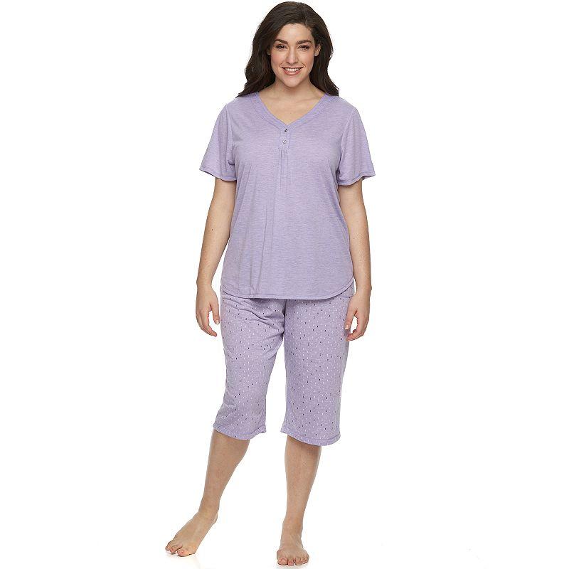 Plus Size Croft & Barrow® Pajamas: Relaxing Moments Pajama Set