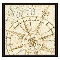 Compass North Framed Canvas Wall Art