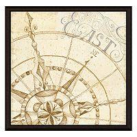 Compass East Framed Canvas Wall Art