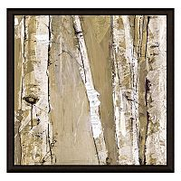 Brown Stems I Framed Canvas Wall Art