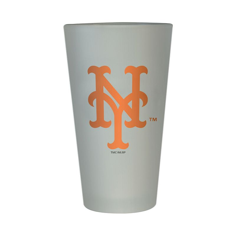 New York Mets Frosted Pint Glass