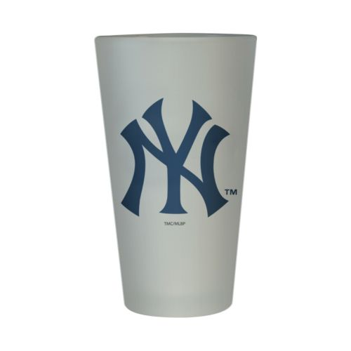 New York Yankees Frosted Pint Glass