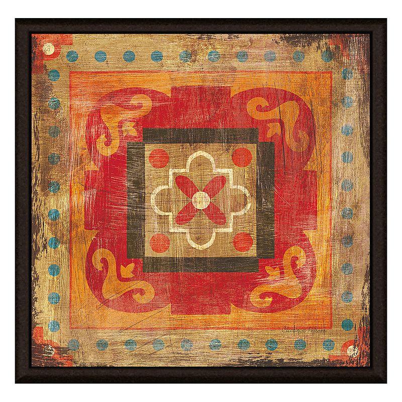 Textile Decoration III Framed Canvas Wall Art