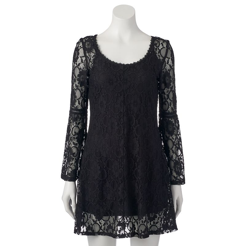 Juniors' Almost Famous Allover Lace Dress
