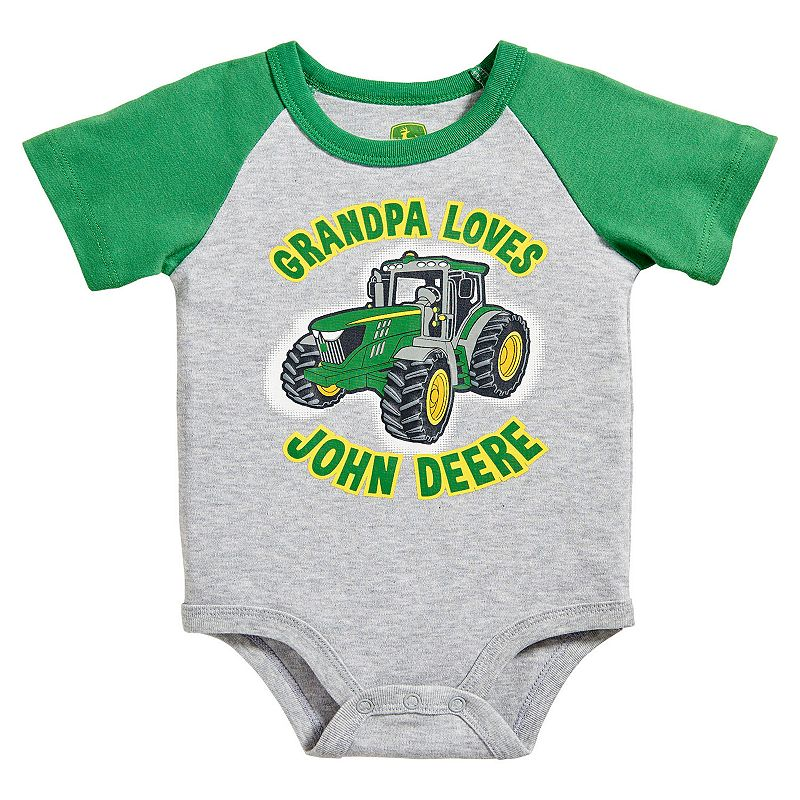 Baby Boy John Deere Family Graphic Bodysuit