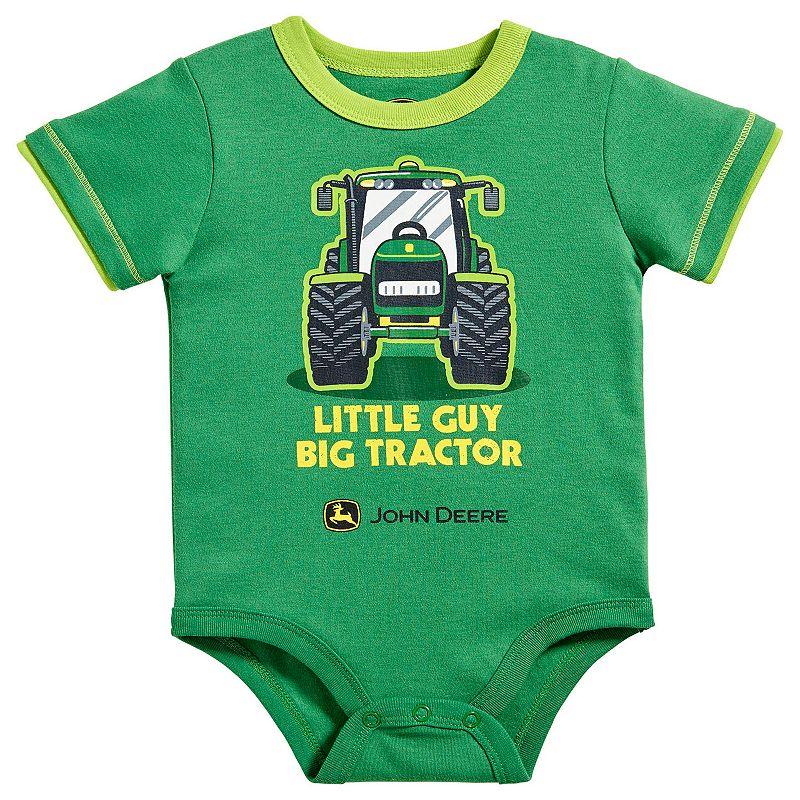 Baby Boy John Deere Tractor Graphic Bodysuit