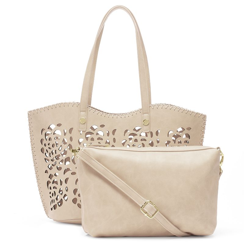 Big Buddha Floral Perforated 2-in-1 Tote