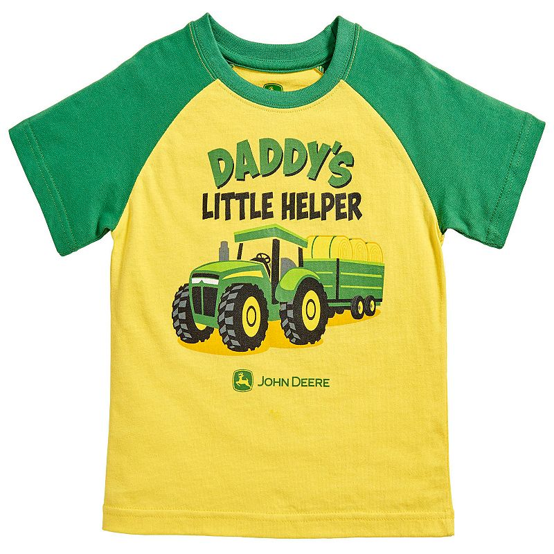 Baby Boy John Deere Family Graphic Raglan Tee