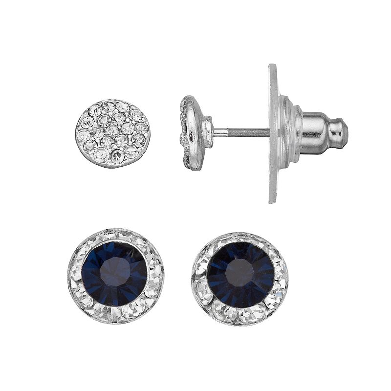 LC Lauren Conrad Halo & Pave Stud Earring Set