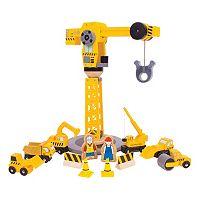 Bigjigs Toys Big Crane Construction Set