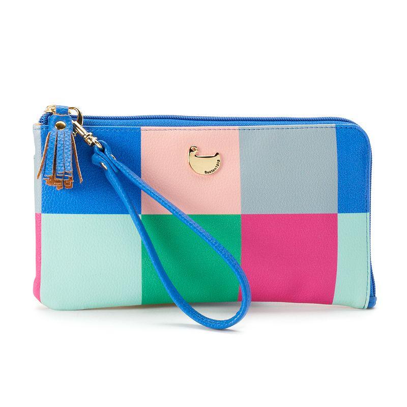Buxton Colorblock Patchwork Zip Wallet