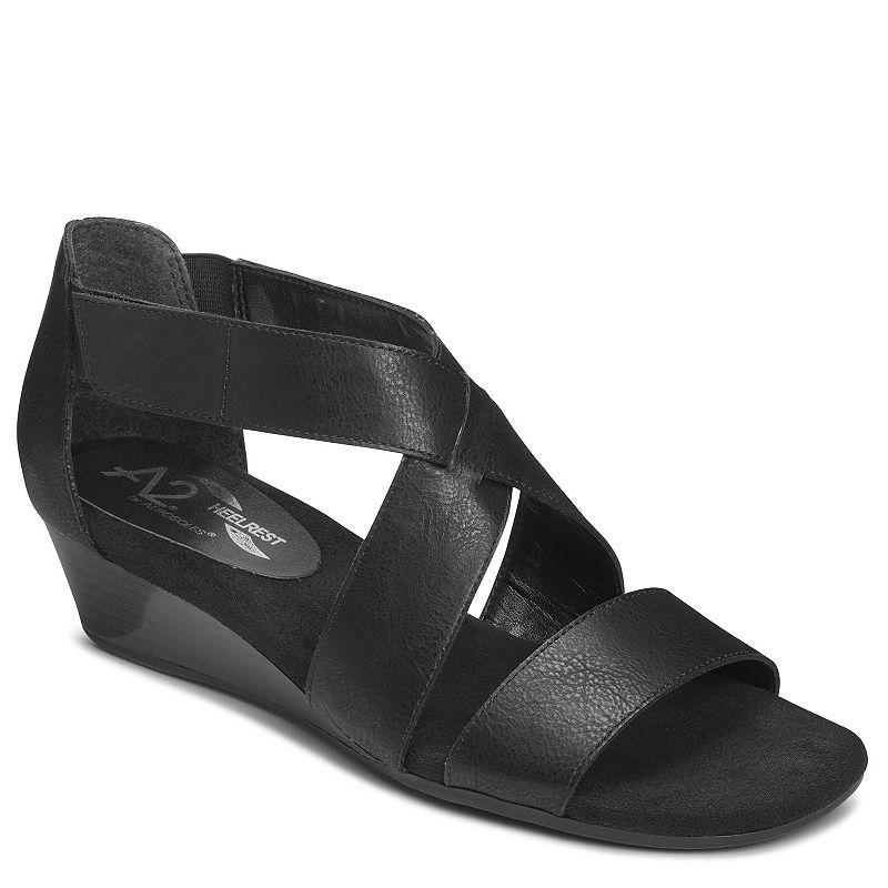 A2 by Aerosoles Yet Women's Crisscross Wedge Sandals