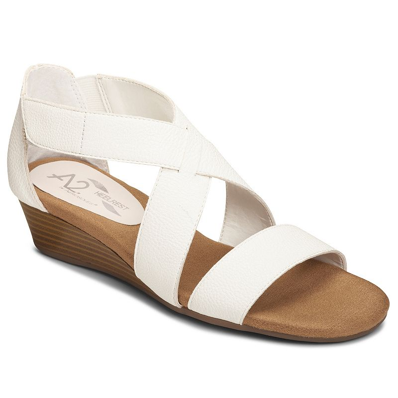 A2 by Aerosoles Yet Women's Crisscross Wedge Sandals