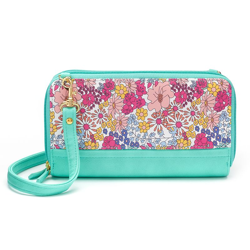 Buxton Ultimate Double-Zip Floral Organizer Wallet