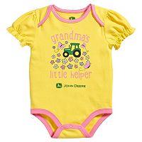 Baby Girl John Deere Tractor Bodysuit