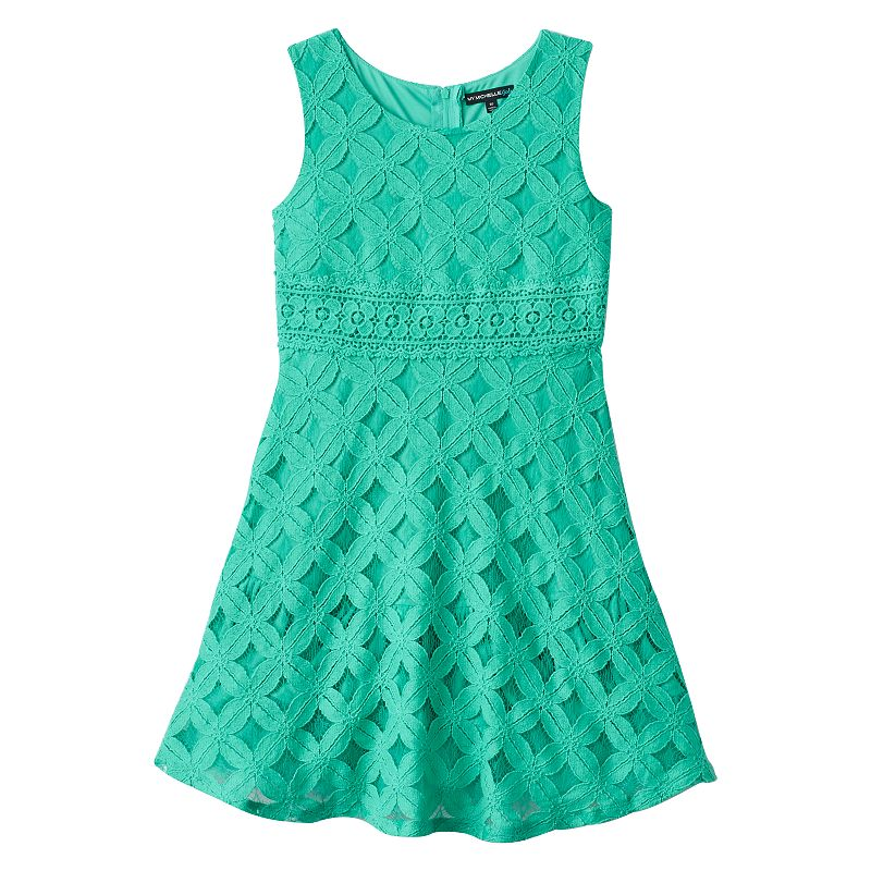 Girls 7-16 My Michelle Lace Party Dress