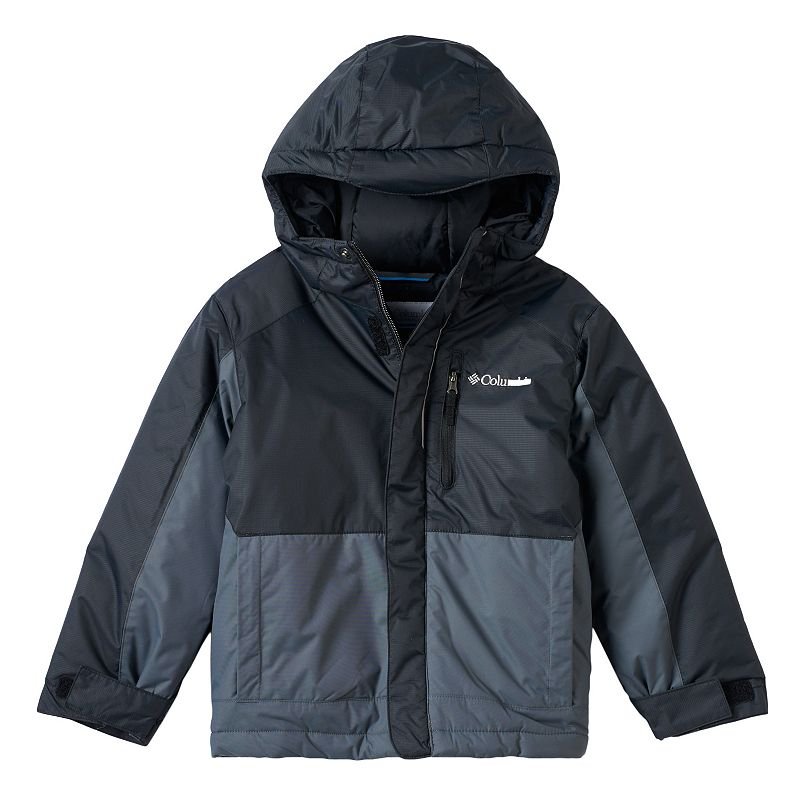 Boys 4-7 Columbia Heavyweight Hooded Jacket, Boy's, Size: 4-5, Grey (Charcoal)