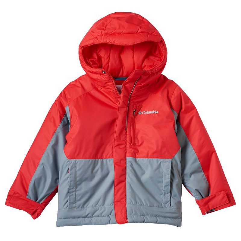 Boys 4-7 Columbia Heavyweight Hooded Jacket, Boy's, Size: 6-7, Med Red
