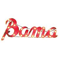 Alabama Crimson Tide Recycled Metal Lighted Wall Décor
