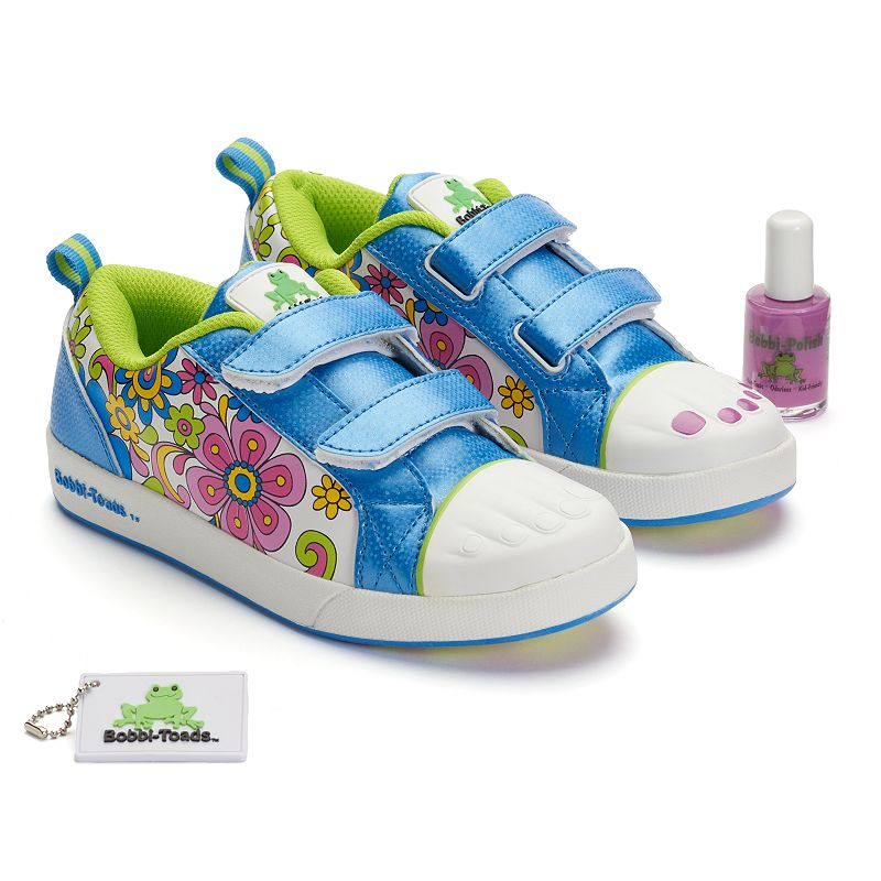 Bobbi-Toads JacJac Girls' Paintable Sneakers with Nail Polish