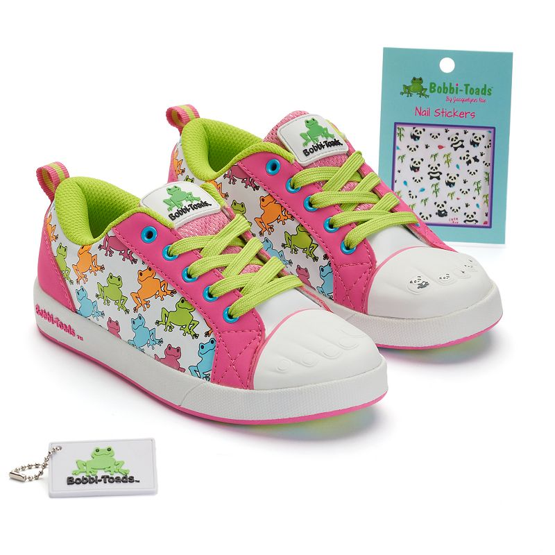 Bobbi-Toads Rhonda Kaze Girls' Paintable Sneakers with Stickers