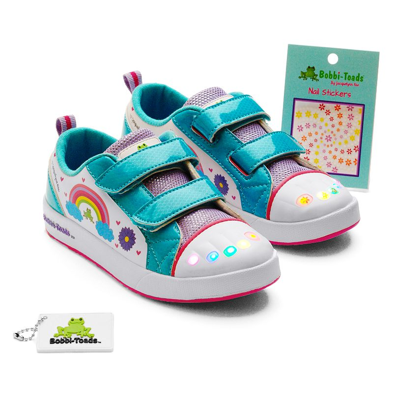 Bobbi-Toads Cloud Nine Girls' Light-Up Sneakers with Stickers