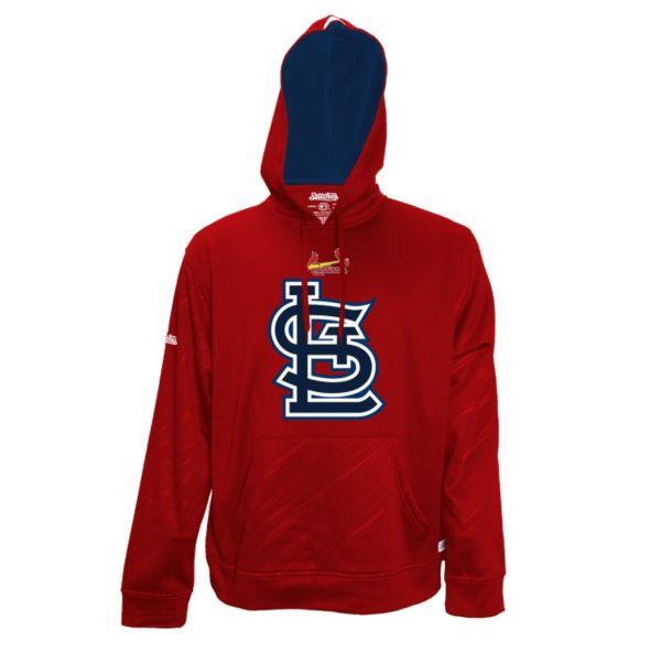 Men's Stitches St. Louis Cardinals Embossed Performance Fleece Hoodie