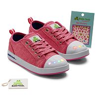 Bobbi-Toads Rileez Girls' Light-Up Sneakers with Stickers