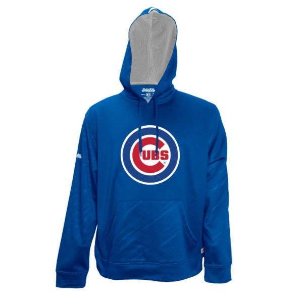Men's Stitches Chicago Cubs Embossed Performance Fleece Hoodie