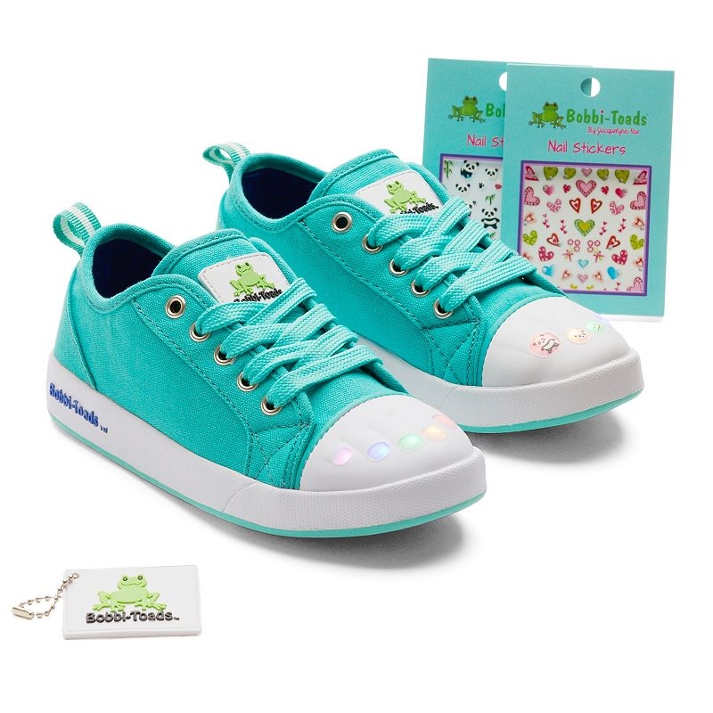 Bobbi-Toads Kelly Girls' Light-Up Sneakers with Stickers