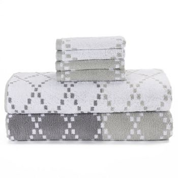 6-Pack Simple By Design Diamond Towels
