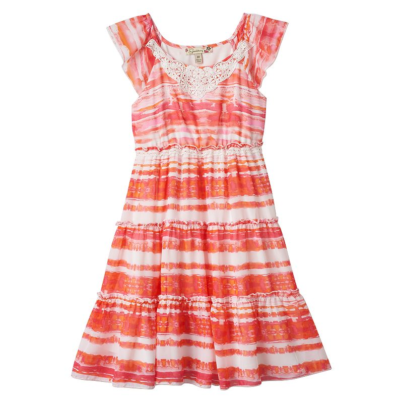 Girls 7-16 Speechless Tie-Dyed Tiered Babydoll Dress