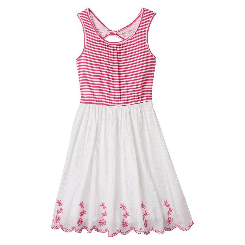Girls 7-16 Speechless Knit Striped Dress