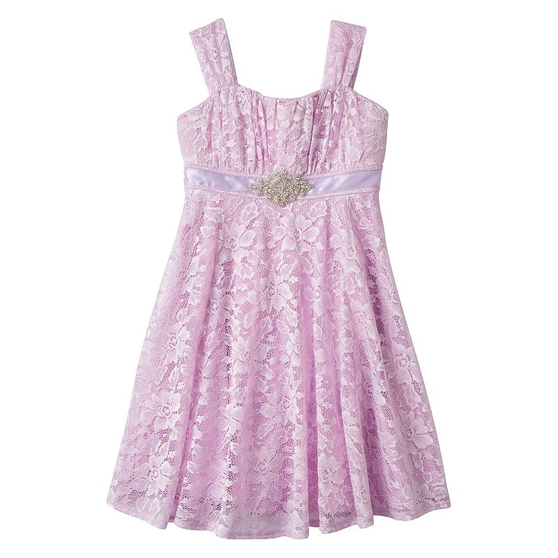 Girls 7-16 Speechless Sequined Floral Lace Dress