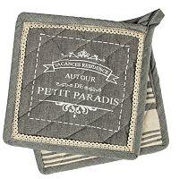 Hotel Petit Paradis 2-pc. Potholder Set