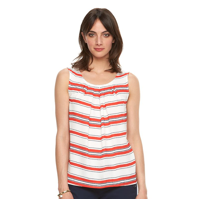 Women's ELLE™ Printed Pleated Tank