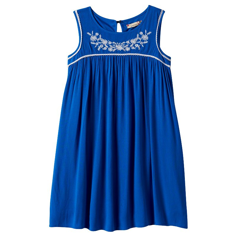 Girls 7-16 Speechless Embroidered Shift Dress