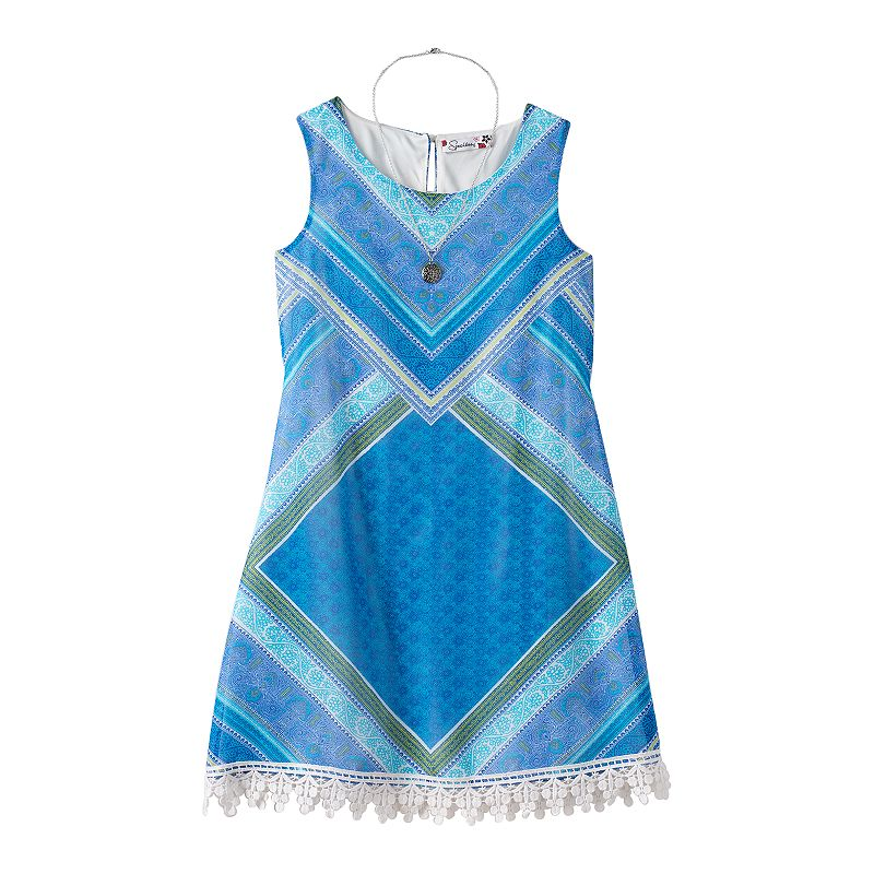 Girls 7-16 Speechless Chiffon Shift Dress & Necklace