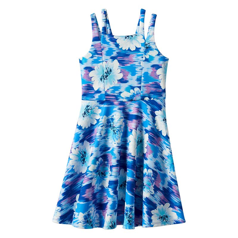 Girls 7-16 Speechless Floral Ponte Skater Dress