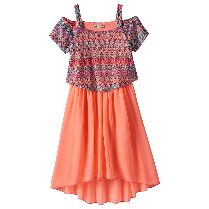 Girls 7-16 Speechless Missoni Cold-Shoulder Dress