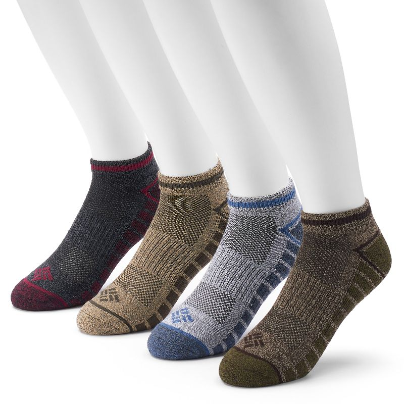 Men's Columbia 4-pack Lightweight Marled Low-Cut Socks