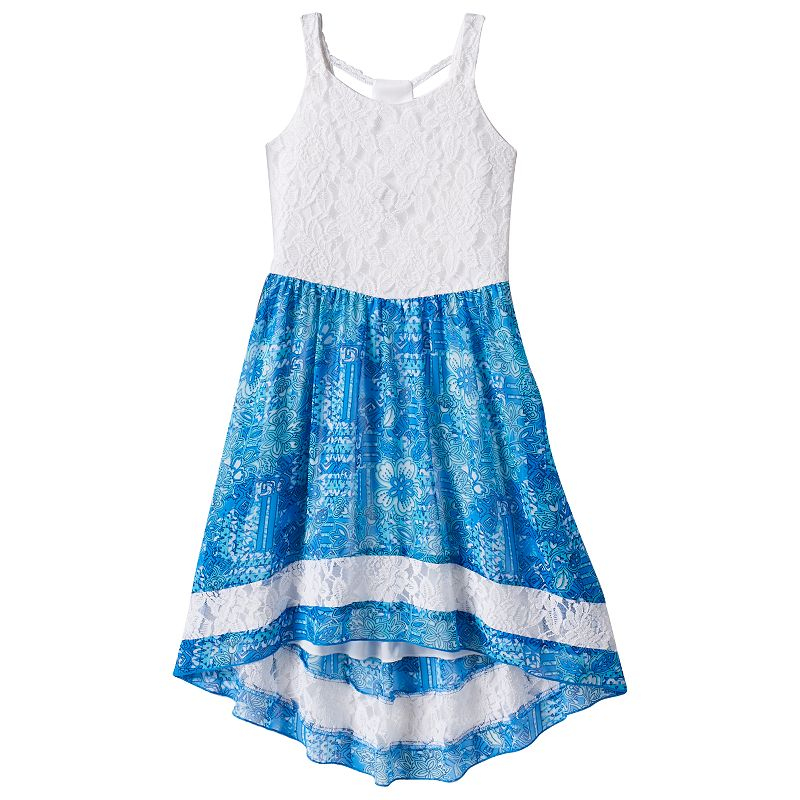 Girls 7-16 Speechless Floral High-Low Dress