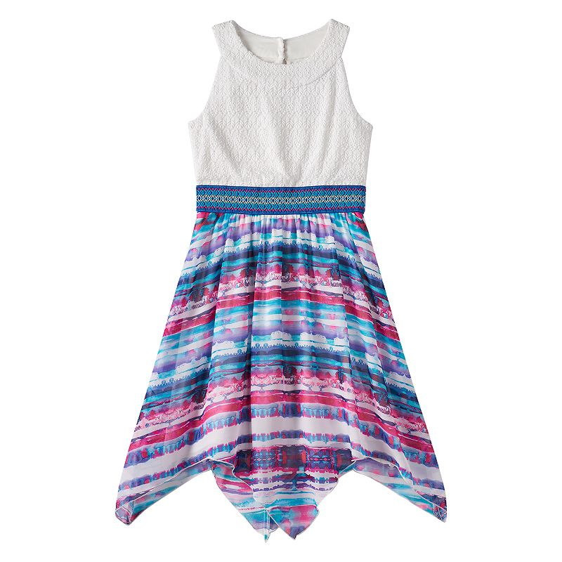 Girls 7-16 Speechless Crochet Watercolor Dress