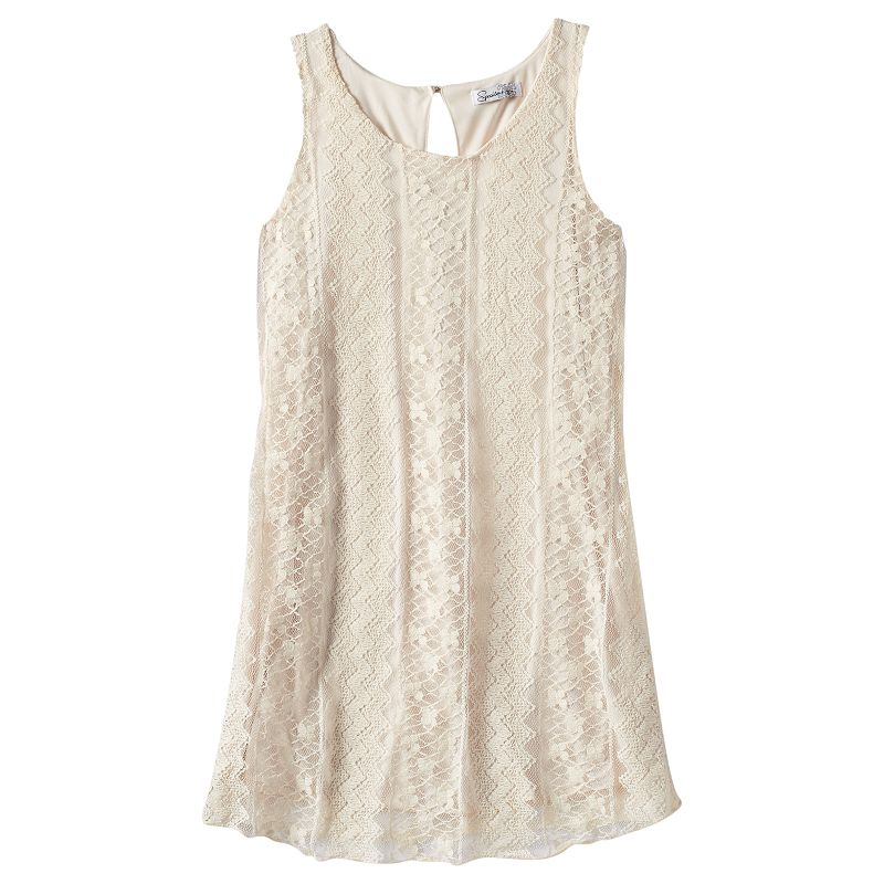 Girls 7-16 Speechless Crochet Shift Dress