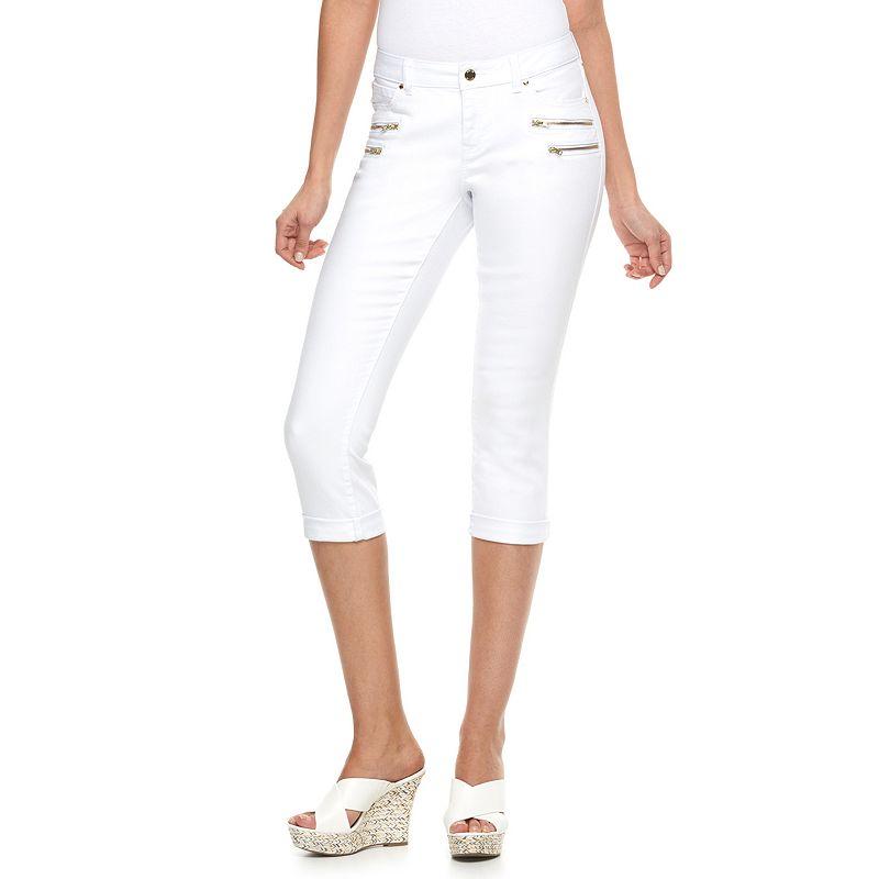 Petite Jennifer Lopez Modern Fit Cuffed Skinny Capri Jeans
