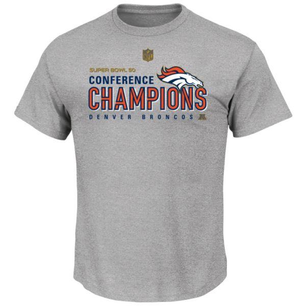 Men's Majestic Denver Broncos 2015 AFC Champions Locker Room Tee
