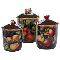 Certified International Caprit 3-pc. Kitchen Canister Set