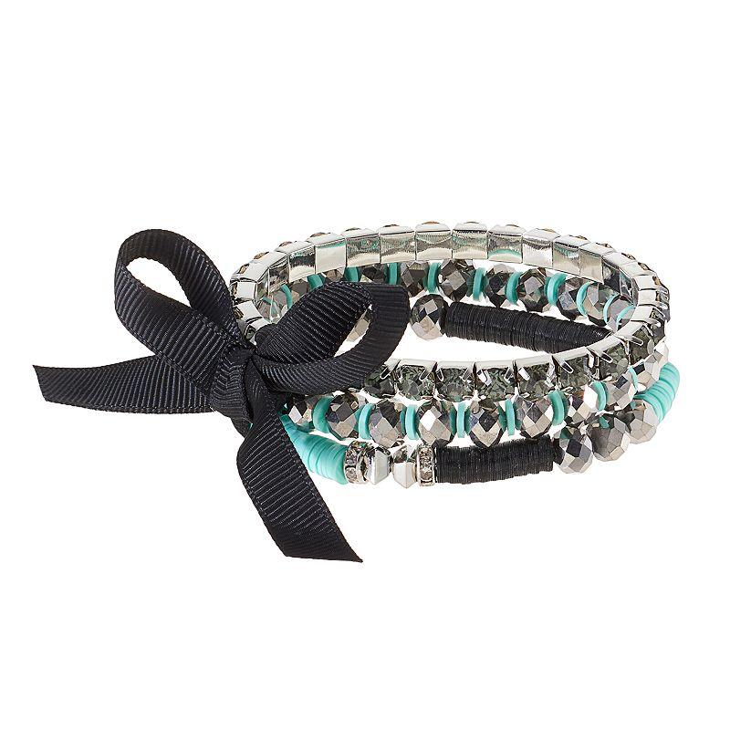 Simply Vera Vera Wang Beaded Multi Strand Stretch Bracelet