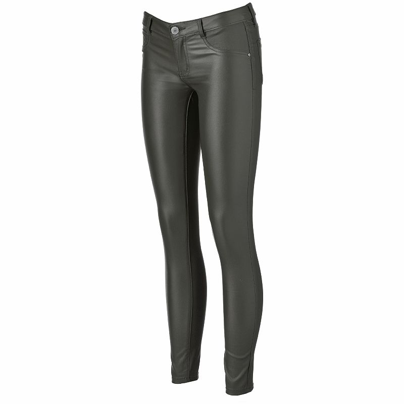 Juniors' Almost Famous Faux-Leather Skinny Pants